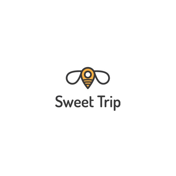 Creative design logo with the title 'Online Travel Guide Logo'