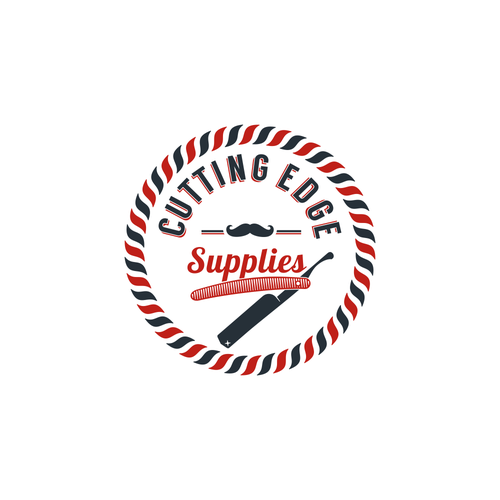 Mustache logo with the title 'Logo for barber shops supply'