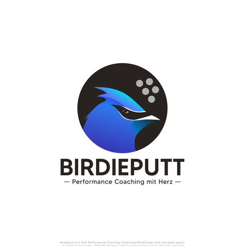 Cardinal design with the title 'BirdiePutt'