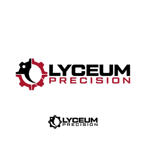 Troop logo with the title 'Logo design for Lyceum Precision'
