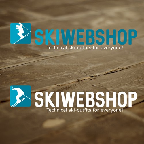 Dutch logo with the title 'Logo for a ski webshop'