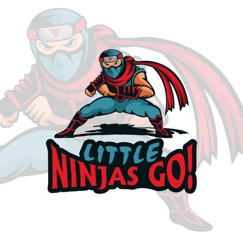 Ninja brand with the title 'Playful logo for Ninja GYM'