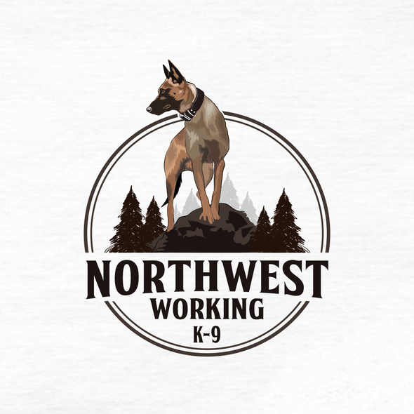 Dog food logo with the title 'Northwest Working K-9'
