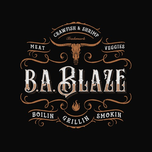 Sophisticated design with the title 'B.A. Blaze'