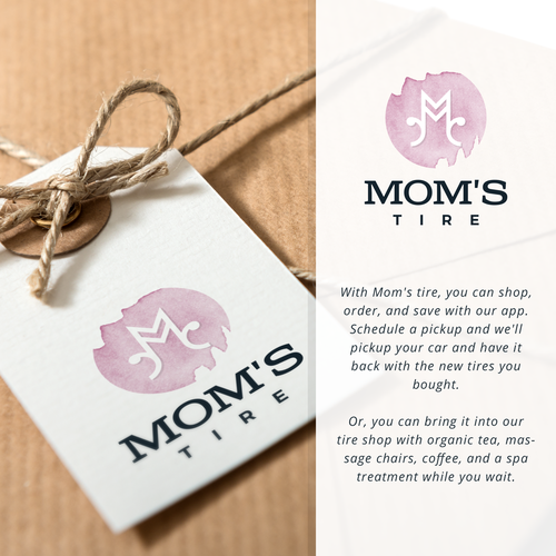Mother's Day logo with the title 'Logo for a tire company'
