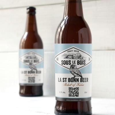 Beer label design and logo