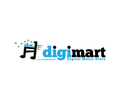 Music app logo with the title 'digimart - Digital Music Download Store'