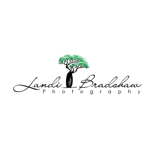 Photographer design with the title 'boab tree photography logo'