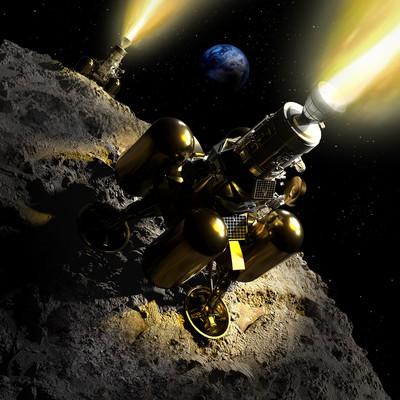Detailed cover illustration for sci-fi novel