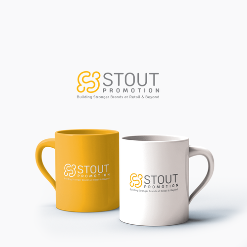 Promotional design with the title 'Stout Promotion Logo'