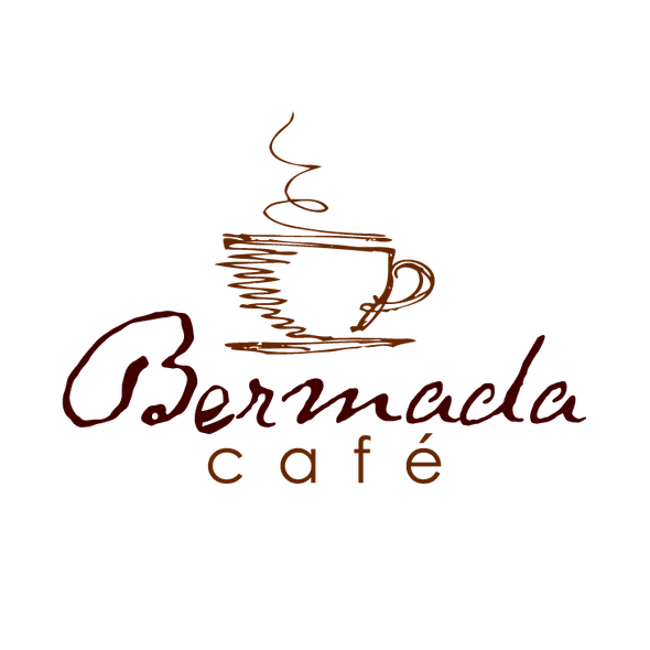 Coffee design with the title 'cafe' - coffee shop - sketchy minimal'