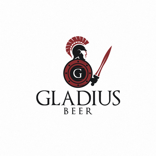 Gladiator design with the title 'gladiator logo'