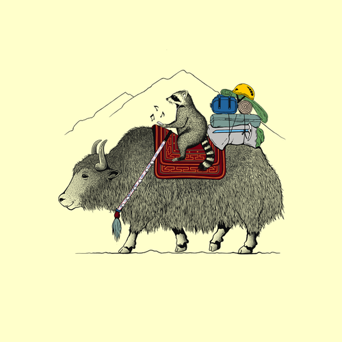 Climbing design with the title 'Yak Ride'