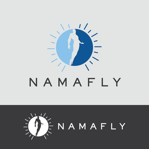 Skydiving logo with the title 'NAMAFLY LOGO'