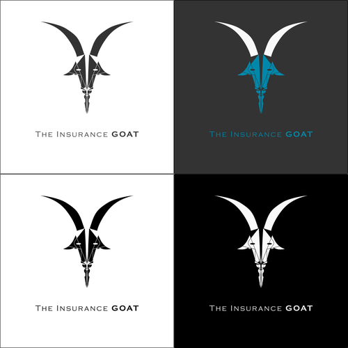 Symmetry design with the title 'goat logo 3'