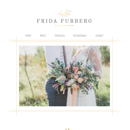 Wedding photography design with the title 'Classic design for a bohemian wedding photographer.'