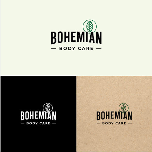 Environmental brand with the title 'Logo for environmentally conscious beard products'