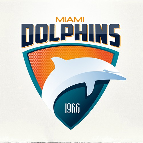 Soccer logo with the title '99designs community contest: Help the Miami Dolphins NFL team re-design its logo!'