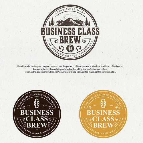 Premium design with the title 'Logo Design for Business Class Brew'