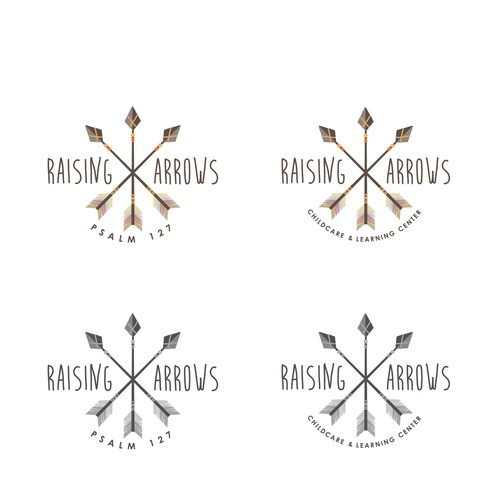 Arrow logo with the title 'Raising Arrows'