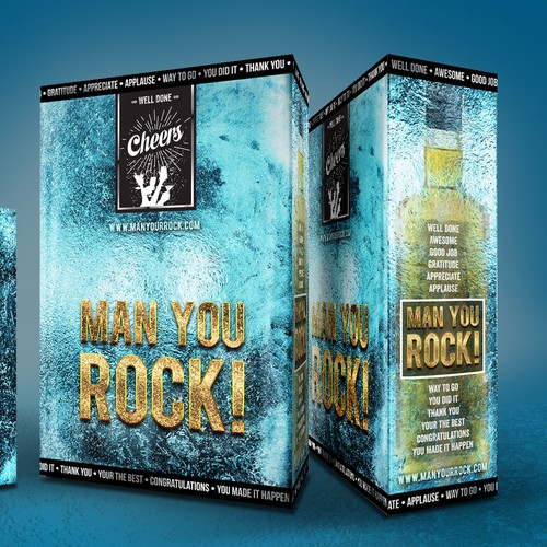 Ice design with the title 'liquor box set gift packaging'