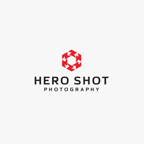 Hero logo with the title 'HeroShot - Photography'