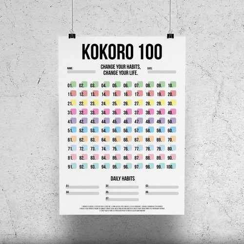 """Daily design with the title 'Poster Design """"Kokoro 100""""'"""