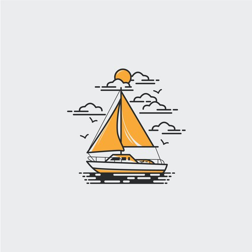 Modern t-shirt with the title 'boats'