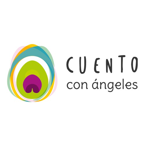 Angel logo with the title 'logo for an angel therapy service company'