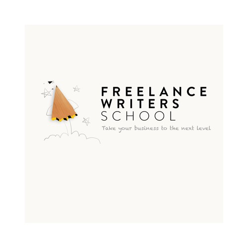 Writer logo with the title 'Freelance Writers School'