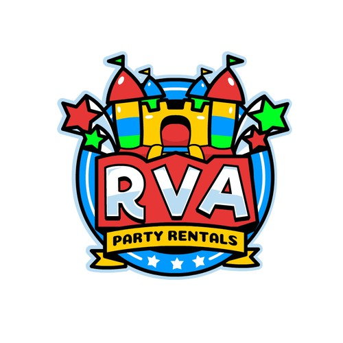 Flash logo with the title 'Bold and Fun Logo for RVA'