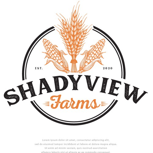 Logo with the title 'Logo for ShadyView Farms'
