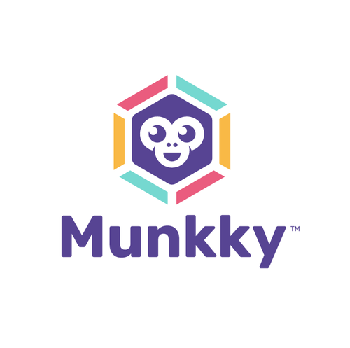 Purple design with the title 'Munkeyy'