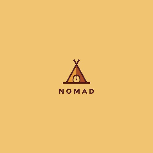 Tent design with the title 'Logo for Nomad Cafe'