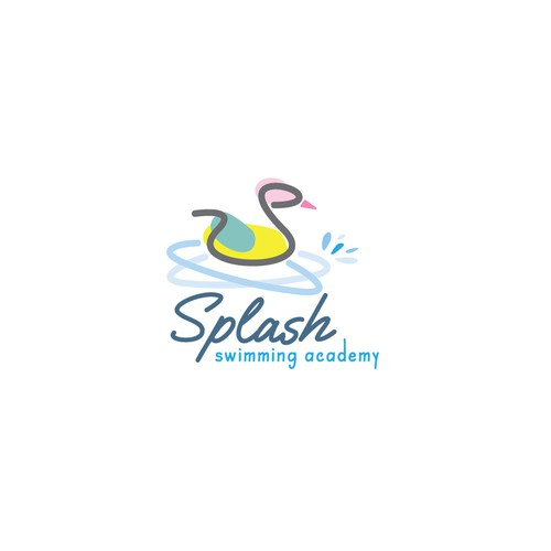 Swimming pool design with the title 'Swimming academy logo'