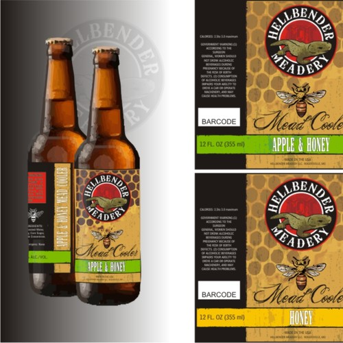 Beverage brand with the title 'Bold design for Mead Brewery'
