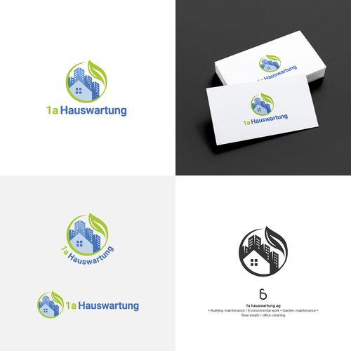 Cleaner logo with the title 'Logo design for 1a hauswartung ag'