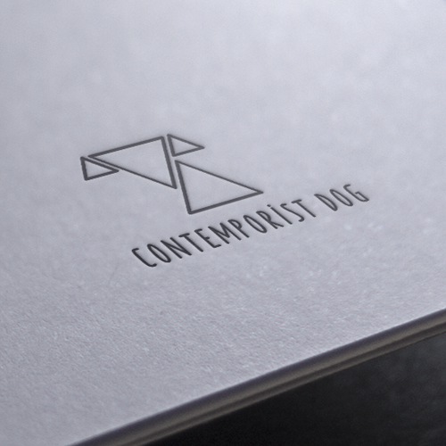 Bespoke design with the title 'Logo for curated and finely crafted premium dog products: www.contemporistdog.com'