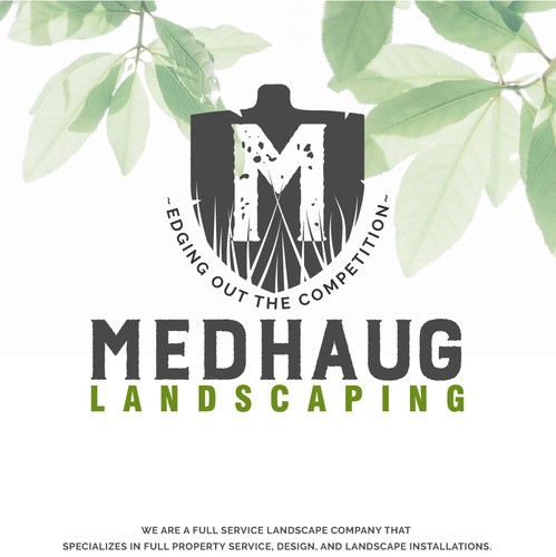 Shovel logo with the title 'Logo Landscaping'