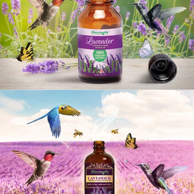 Label design for Lavender oil