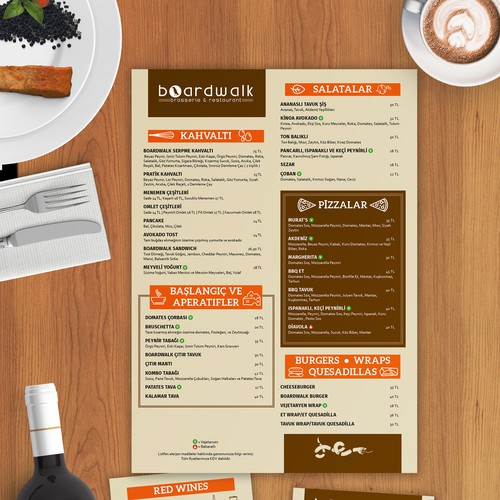 Pizza design with the title 'Hip Restaurant Menu'