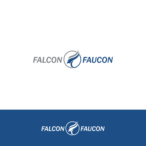 F logo with the title 'Falcon and Faucon'