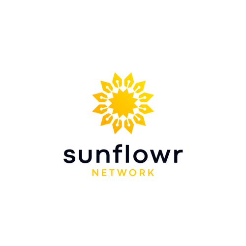 Sunflower design with the title 'sunflowr'
