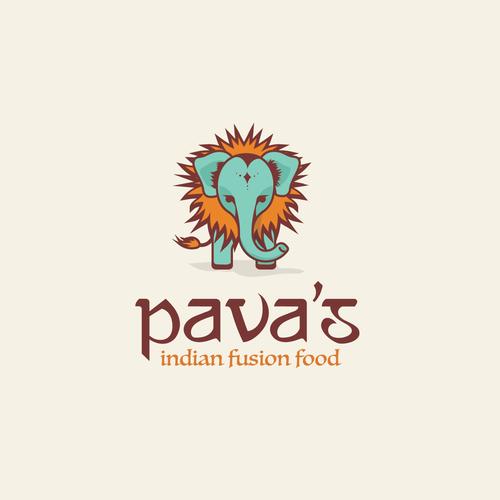 Safari design with the title 'Fusion Indian food'
