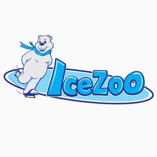 Polar bear design with the title 'ice Zoo'