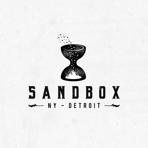 Creative logo with the title 'Sandbox'