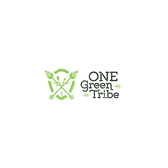 Tribal lion logo with the title 'One Green Tribe'