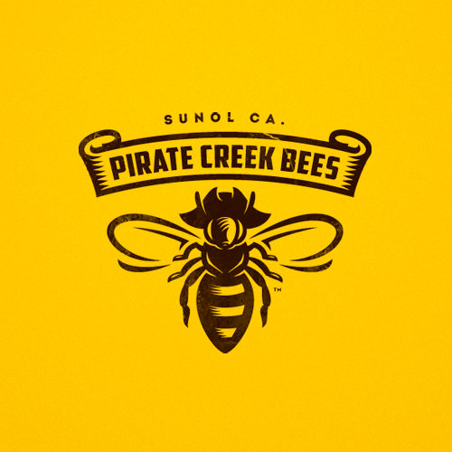 Bee design with the title 'Logo for honey producers'