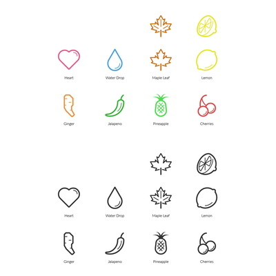 Example of line icons