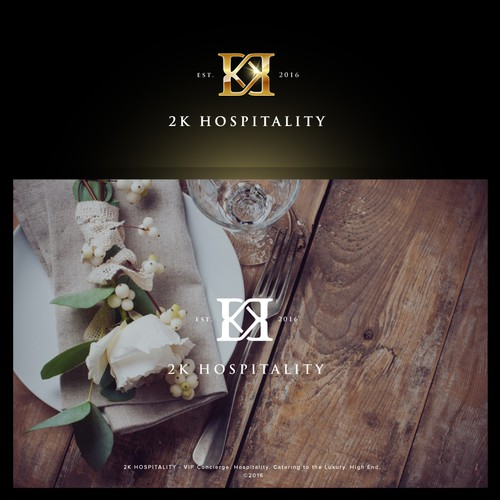 K design with the title 'Logo and Website for a VIP Concierge Service'